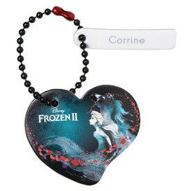 【取寄せ】 ディズニー Disney US公式商品 アナ雪2 アナと雪の女王 アナ雪 2 プリンセス 本革製 タグ レザー 本革 キーホルダー [並行輸入品] Frozen Heart Tag by Leather Treaty ? Personalized グッズ ストア プレゼント ギフト クリスマス 誕生日 人気
