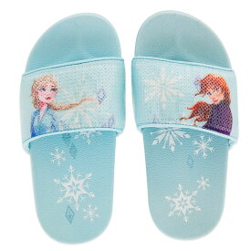 【あす楽】 ディズニー Disney US公式商品 アナ雪2 アナと雪の女王 アナ雪 2 プリンセス アナ エルサ サンダル ビーサン スリッパ ビーチサンダル 靴 くつ 子供 キッズ 女の子 男の子 [並行輸入品] Anna and Elsa Slides for Kids ? Frozen グッズ ストア プレ