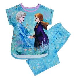 【1-2日以内に発送】 ディズニー Disney US公式商品 アナ雪2 アナと雪の女王 アナ雪 2 プリンセス アナ エルサ セット 女の子用 子供用 パジャマ 寝具 部屋着 女の子 ガールズ 子供 [並行輸入品] Anna and Elsa Sleep Set for Girls - Frozen グッズ ストア プレゼント