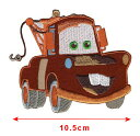 【1-2日以内に発送】ディズニー Disney カーズ メーター Cars Mater アイロンで取り付ける【アップリケの大きさ:10cm x 9cm】ワッペン...