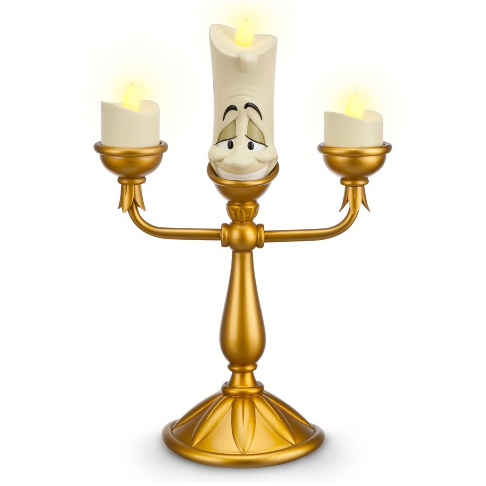 【あす楽】ディズニー Disney USA公式商品 美女と野獣 ルミエール 光る ライトアップ フィギュア キャンドル 置物 おもちゃ 玩具 光る ライトアップ [並行輸入品] Lumiere Light-Up Figure