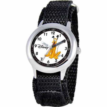 【1-2日以内に発送!】ディズニー Disney プルート Pluto 腕時計 男の子用 子供 ステンレス製 子供用 女の子 男の子 ボーイズ [並行輸入品] Boys' Stainless Steel Watch, Black Strap クリスマス 誕生日 プレゼント ギフト