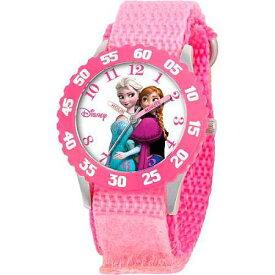 【あす楽】ディズニー Disney アナ雪 アナと雪の女王 フローズン エルサ プリンセス 腕時計 女の子用 子供用 ステンレス製 女の子 男の子 ガールズ [並行輸入品] Frozen Anna, Snow Queen Elsa Girls' Stainless Steel Watch, Pink Strap クリスマス 誕生