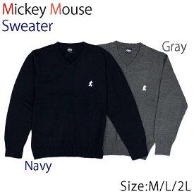 ミッキーマウス スクールセーター (ネイビー/グレー) 学生服 制服 学生 レディース ディズニー スクール セーター 【532P19Apr16】