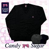 キャンディーシュガー/スクールセーター3色展開【candysugar】ウール混学生セーター