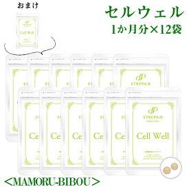 飲む紫外線対策!Cell Well セル ウェル<MAMORU-BIBOU>(30粒)×12袋 おまけ1袋/ おまとめ買いがお得!美容 健康 サプリ HSP アーティチョーク葉エキス プロテオグリカン
