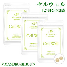 飲む紫外線対策!Cell Well セル ウェル<MAMORU-BIBOU>(30粒)×3袋/飲む紫外線対策。紫外線対策しつつ、今の肌悩みを同時にケアするサプリです。美容 健康 サプリ HSP アーティチョーク葉エキス プロテオグリカン