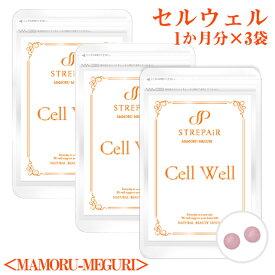 身体の巡りの力を取り戻す!Cell Well セル ウェル<MAMORU-MEGURI>(60粒)×3袋/ 伝承ハーブで身体の巡り力を取り戻す!美容 健康 サプリ ヒハツ イヌリン 血行促進 むくみ 冷え HSP