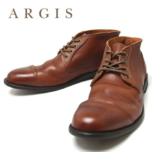 ARGIS アルジス チャッカブーツ 12103 ショートブーツ レザーブーツ 本革 牛革 革靴 日本製 国産 茶