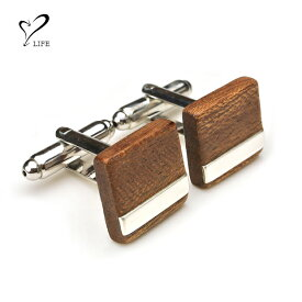 【 リアルウッドのカフス 】 LIFE ライフ 木製ネクタイピン tiepin-b / リアルウッド マホガニー カフリンクス カフス ビジネスグッズ ネクタイ 木製 ハンドメイド オーダーメイド 日本製 父の日 誕生日 成人祝い 就職祝い