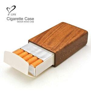 【リアルウッドのタバコケース 】 LIFE ライフ ウッドHOPEタバコケース / ホープ ショートホープ ショッポ たばこケース タバコケース 煙草ケース たばこ タバコ 煙草 ケース ウッド 木製 木 お