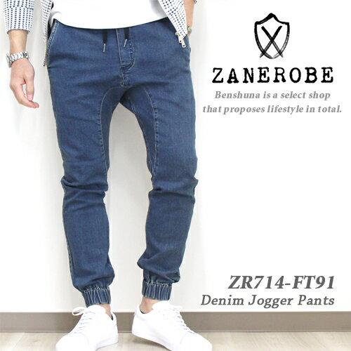 ZANEROBE (ゼインローブ) デニムジョガーパンツ 『SURESHOT JOGGER STRIPPED INDIGO』 2019年春夏新作 メンズ 29-32インチ インディゴ ZR714-FT-91 / ゼンローブ ボトムス ズボン