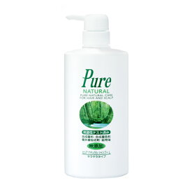 【公式】ピュアナチュラルシャンプーL 500mL ポンプ(サラサラタイプ)植物成分配合の無添加、低刺激シャンプー(ノンシリコン)