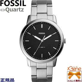 [新品!正規品/日本全国送料無料]FOSSIL/フォッシル THE MINIMALIST/ミニマリスト メンズクオーツ アナログ ステンレス 5気圧防水 ブラックダイヤル FS5307