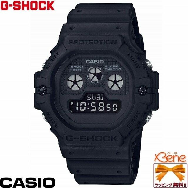 [正規品/送料無料!]CASIO/カシオ G-SHOCK/ジーショック Classic Basic Black Series [Aboslute Toughnenss] 3つ目デジタルスクエア メンズクオーツ 20気圧防水 ワールドタイム オールブラック DW-5900BB-1JF