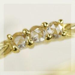 【K】【SR】【送料無料】ローズカットダイヤモンドリング【smtb-m】