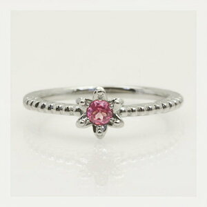 全品ポイント10倍 「リリウム・ルベルム」ピンクスピネルリング 春色ピンク