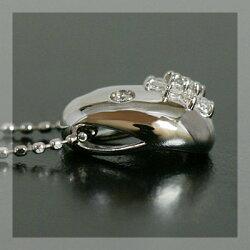 【全品ポイント10倍】ローズカットダイヤ×ダイヤモンドペンダントトップ「フィオリータ」(チェーン無し)誕生石4月