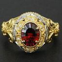 【送料無料】 自分たちが欲しいと思うリングを作りました!ガーネット×ダイヤモンドが映える、ルネッサンスリング