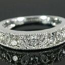 《ベーネブリリアント》 ブリリアントカットダイヤモンド ミル打ちアンティークデザインリング 誕生石 4月