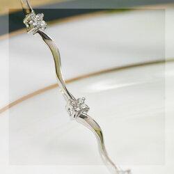 0.32ctダイヤモンドフラワーブレスレット