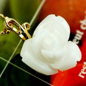 K18白珊瑚薔薇カーヴィング「つるバラのペンダントトップ」アイスバーグ 送料無料