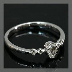 ローズカットダイヤモンドペアシェイプダイヤモンドリング「ネオクラシカル」対応金種:K18(ホワイトゴールド、イエローゴールド、シャンパンゴールド、ピンクゴールド)、対応サイズ:6号〜15号【smtb-m】