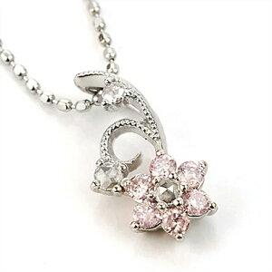 「ルクリア」 Luculiaピンクダイヤモンド ローズカットダイヤ ペンダント/ヘッドのみ 誕生石 4月 春色ピンク