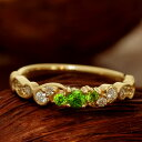 ロシア産デマントイドガーネット×ダイヤモンドリング「フルエンテ」現品はK18グリーンゴールド サイズ11号 サイズ直し承ります割引…