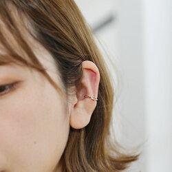 選べる13石カラーストーンダイヤモンドイヤーカフ「Twing」片耳分0.5ペアK10