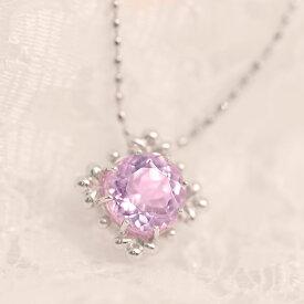 数量限定 6mm AAA クンツァイトペンダントトップ「リリー」 2019春色ピンク