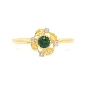 数量限定 ラグーングリーントルマリンxローズカットダイヤモンドリング「カテーナ」K10・K18対応 ※金種により金額が異なります。誕生石 4月 10月 クリスマス プレゼント
