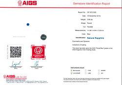 ☆ロイヤルブルーサファイア鑑別書付0.66ct1個限定製品オーダー可能※こちらのルースを使用してのオーダー・セミオーダー・カスタマイズもお受けできます。