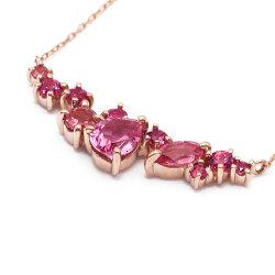 ピンクスピネル(カットルース)ペンダント「薔薇のエッセンス」