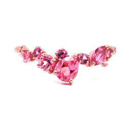 ピンクスピネル(カットルース)リング「薔薇のエッセンス」