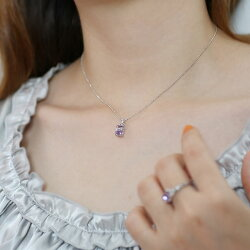 バイカラーアメシストダイヤモンドペンダントトップ「ジーリョ」誕生石2月※K18の場合には金額訂正しご連絡致します。