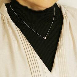 幸せ結んで♪リボンのアーガイル産ピンクダイヤモンドペンダントネックレスK10・K18対応※金種により金額が異なります。※K18の場合には別途ご連絡致します。誕生石4月