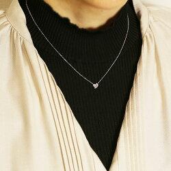 短めにつけたいプチハート♪アーガイル産ピンクダイヤモンドパヴェペンダントネックレスK10・K18対応※金種により金額が異なります。※K18の場合には別途ご連絡致します。誕生石4月