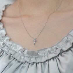 パライバトルマリン×ピンクダイヤモンドクロスペンダントトップ誕生石10月※K18の場合には金額訂正しご連絡致します。