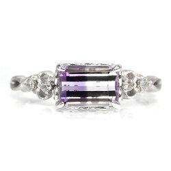 バイカラーアメシストダイヤモンドリング「ジーリョ」K18・K10対応誕生石2月※K18の場合には金額訂正しご連絡致します。