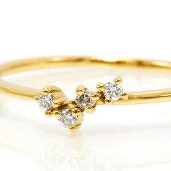 0.04ctダイヤモンドリング「Beat」K10・K18対応※金種により金額が異なります。誕生石4月
