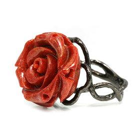 スポンジサンゴ薔薇 シルバーリング フラワーガーデン アルディートシリーズSV925誕生石 3月 ホワイトデー ギフト
