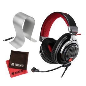 オーディオテクニカ audio-technica ATH-PDG1a 高音質 オープンエアー型 ゲーミングヘッドセット ヘッドホン PC/PS4/Xbox One (ヘッドホンスタンド&クロス付き)(みつはぴ)