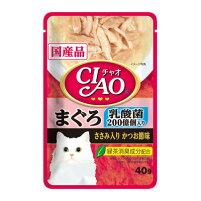 CIAOパウチ乳酸菌入まぐろかつお節40g