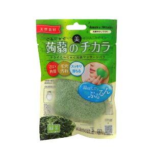 ドライこんにゃく洗顔マッサージパフ 緑茶 コンビニ受取対応商品
