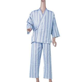 【パジャマ・寝巻】【神戸生絲】紳士用カラーおくつろぎ(付袖)M/Lサイズ
