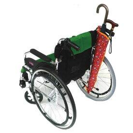 ※在庫限り廃盤※ かさつえホルダー 車椅子/シルバーカー用 傘/杖ホルダー サキザカ