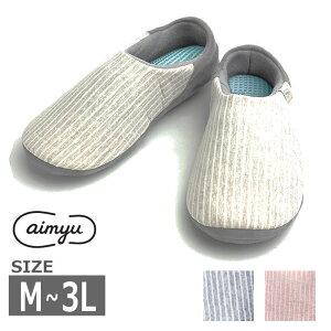 【M-3L】徳武産業 [aimyu sara-RI(さらり)] 6603 3E 両足販売 男女共用 介護 施設 病院 軽量 靴 シューズ ケア 小さいサイズ 大きいサイズ 上靴 室内履き 院内シューズ ルームシューズ かかと付き