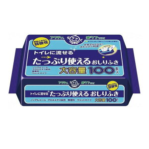 アクティ トイレに流せるたっぷり使えるおしりふき 100枚 日本製紙クレシア ノンアルコール 無香料 ウェットティッシュー ウェットティシュー お尻ふき お尻拭き おしり拭き 衛生用品