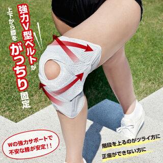 お医者さんのがっちり膝ベルト(AP-202615)アルファックス膝サポーターS/M/L/LLサイズ男女兼用片足1枚入り